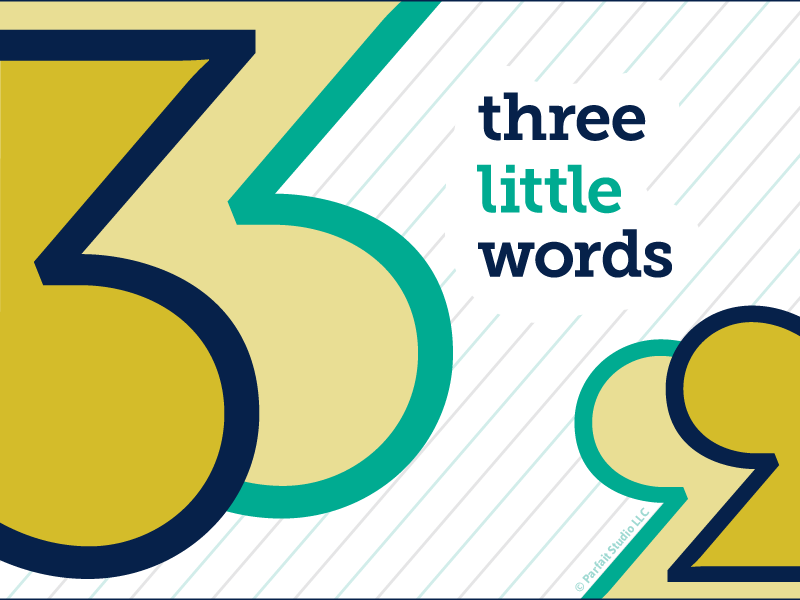 Three Little Words Blog Post Illustration