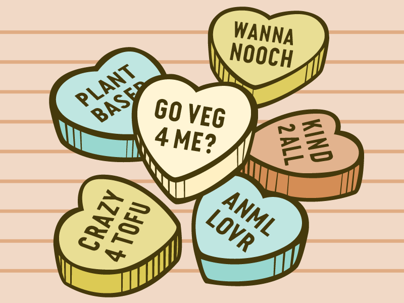 Why Go Veg? Vegan Conversation Hearts
