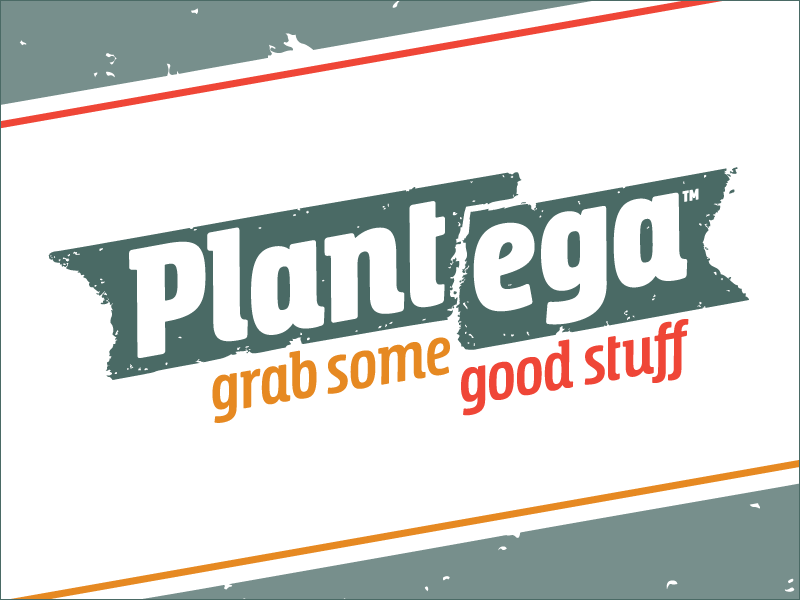 "Plantega Logo + Tagline: ""Grab Some Good Stuff"""